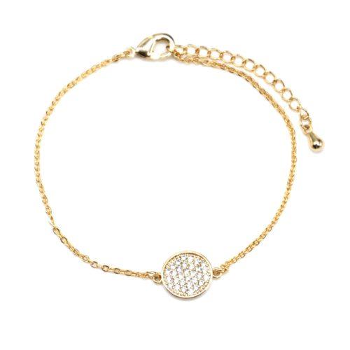 Bracelet-Fine-Chaine-Dore-a-lOr-Fin-avec-Charm-Cercle-Strass-Dore