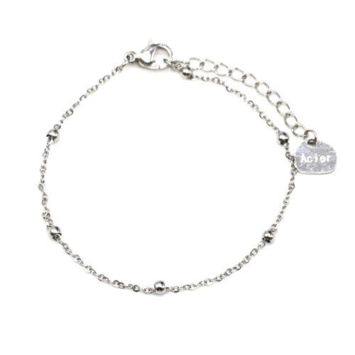 Bracelet-Fine-Chaine-Mini-Boules-Acier-Argente