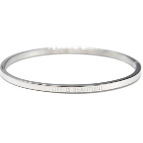 Bracelet-Jonc-Fin-Acier-Argente-avec-Message-Life-Is-Beautiful