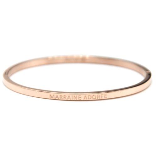 Bracelet-Jonc-Fin-Acier-Or-Rose-avec-Message-Marraine-Adoree