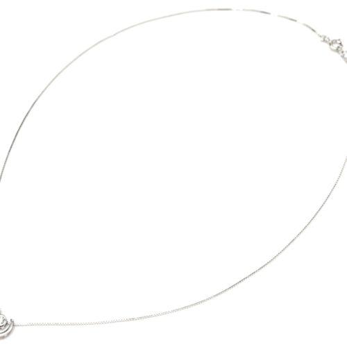 Collier-Fine-Chaine-Argent-925-Pendentif-Arc-de-Cercle-et-Pierre-Zirconium
