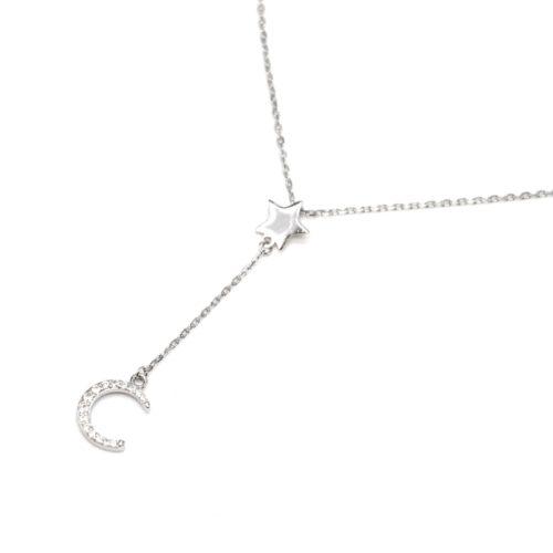 Collier-Fine-Chaine-Argent-925-Pendentif-Y-Etoile-et-Lune-Strass-Zirconium