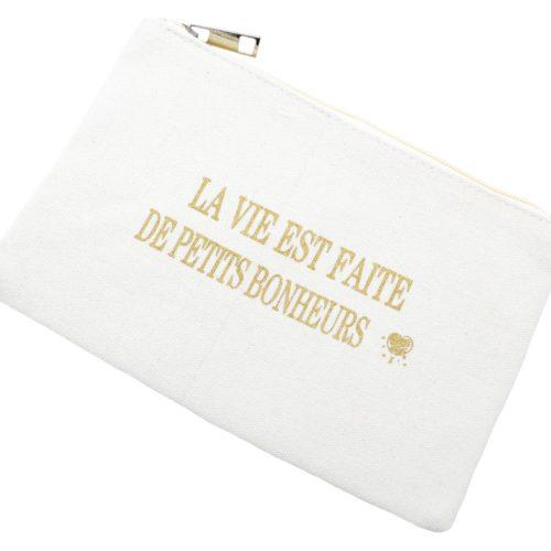 Trousse-Maquillage-Pochette-Tissu-Creme-Message-La-Vie-Est-Faite-De-Petits-Bonheurs