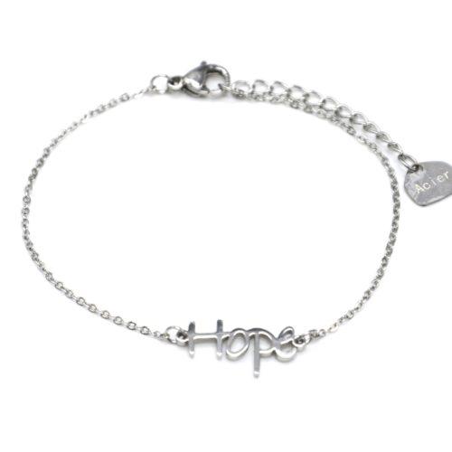 Bracelet-Fine-Chaine-avec-Charm-Hope-Acier-Argente