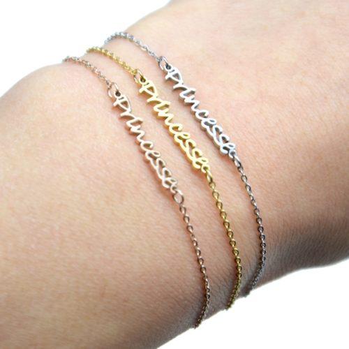 Bracelet-Fine-Chaine-avec-Charm-Princesse-Acier