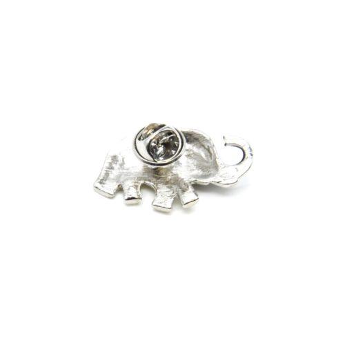 Mini-Broche-Pins-Elephant-Metal-Peint-et-Metal-Argente