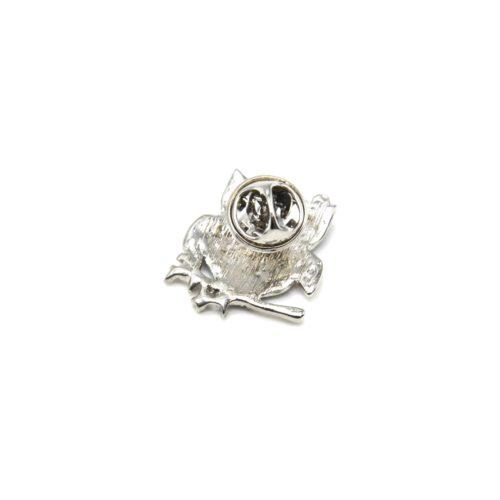 Mini-Broche-Pins-Chouette-Metal-Peint-sur-Branche-Metal-Argente