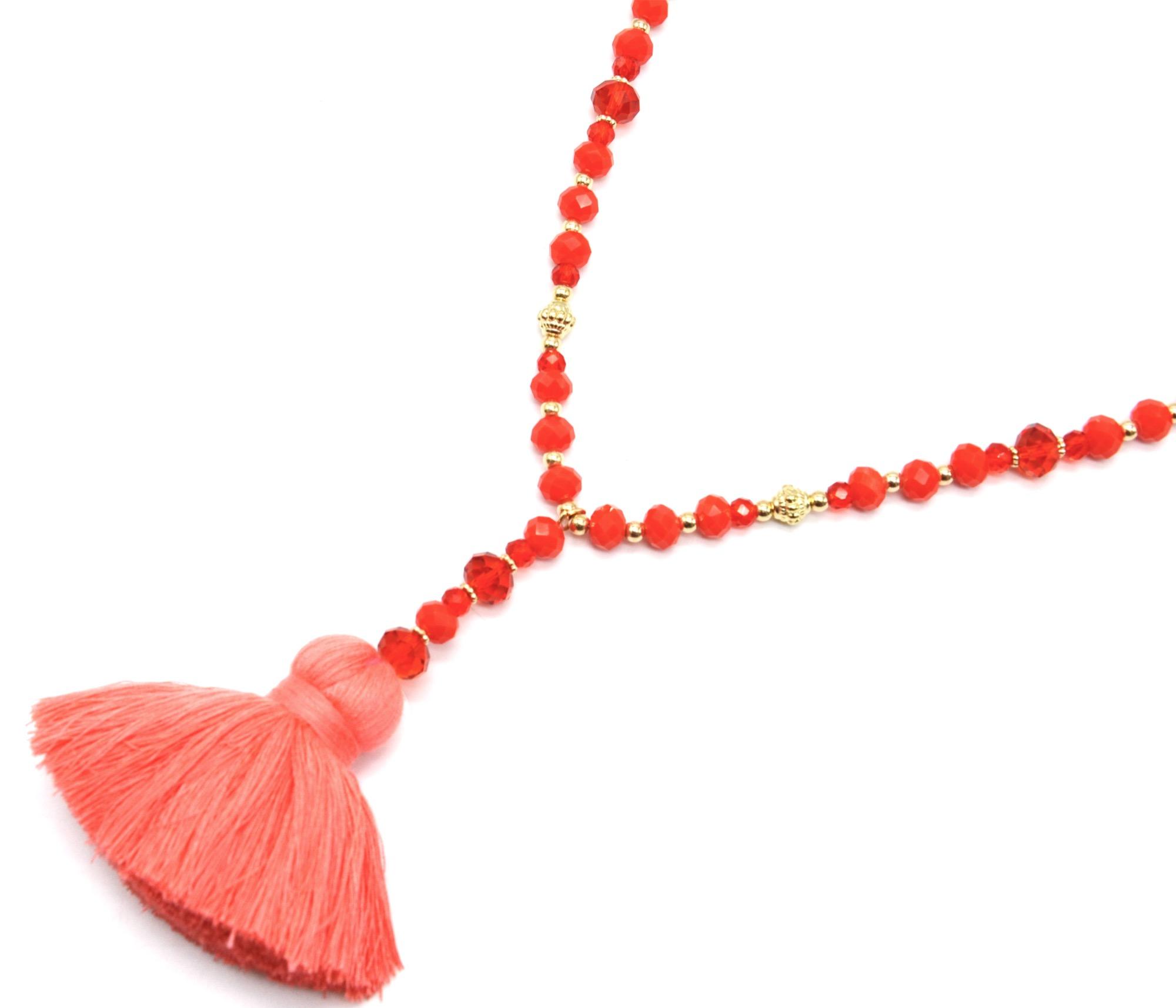 collier perle brillante