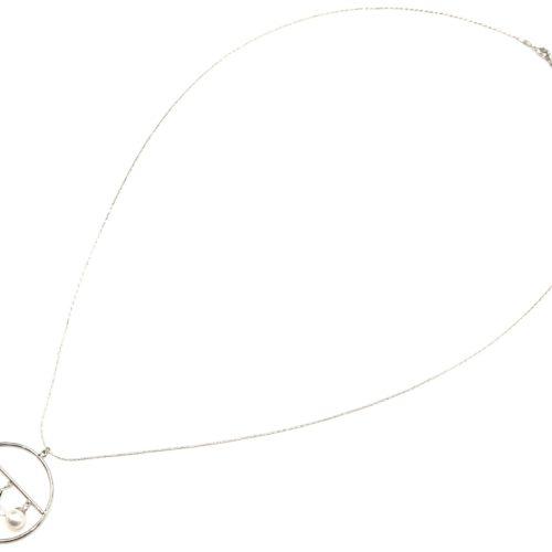 Sautoir-Collier-Pendentif-Cercle-Metal-Argente-avec-Etoiles-Strass-Zirconium-et-Perle