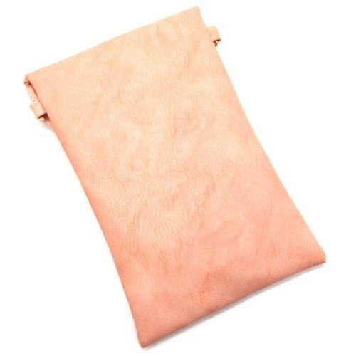 Mini-Pochette-Sac-Bandouliere-Simili-Cuir-Rose-avec-Perles-Rocaille