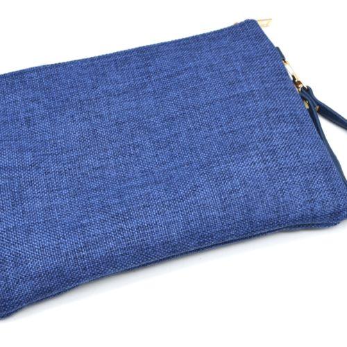 Pochette-Sac-Effet-Jean-Denim-Bleu-Fonce-avec-Motif-Brode