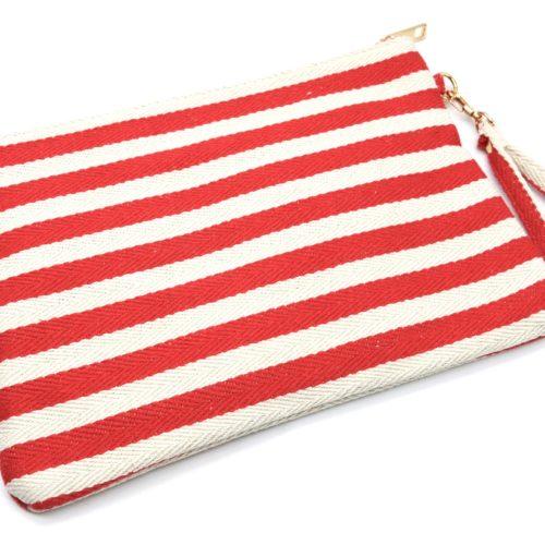 Pochette-Sac-Tissu-Mariniere-Rayures-Rouge-avec-Motifs-Exotiques