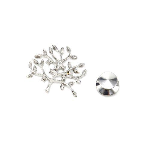 Mini-Broche-Pins-Arbre-de-Vie-Strass-et-Metal-Argente
