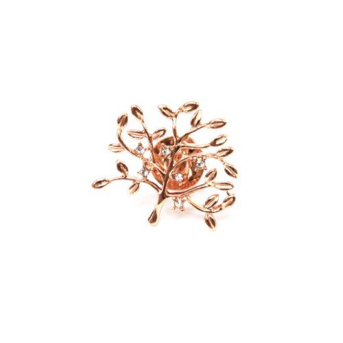 Mini-Broche-Pins-Arbre-de-Vie-Strass-et-Metal-Or-Rose