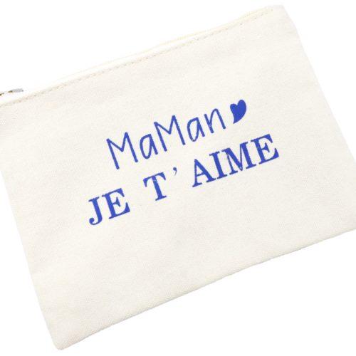 Trousse-Maquillage-Pochette-Tissu-Creme-Message-Maman-Je-T-Aime-Bleu