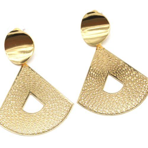 Boucles-dOreilles-Statement-Cercle-et-Triangle-Arrondi-Ajoure-Metal-Dore