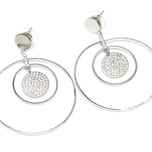 Boucles-dOreilles-Multi-Cercles-Metal-Argente-et-Strass-Zirconium