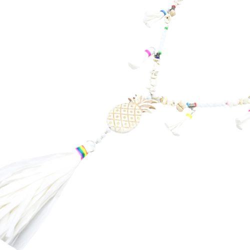 Sautoir-Collier-Perles-Pierres-Effet-Marbre-avec-Ananas-Blanc-et-Pompons-Papier-Soie