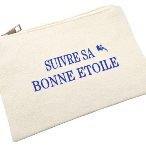 Trousse-Pochette-Toile-avec-Message-Suivre-Sa-Bonne-Etoile-Bleu
