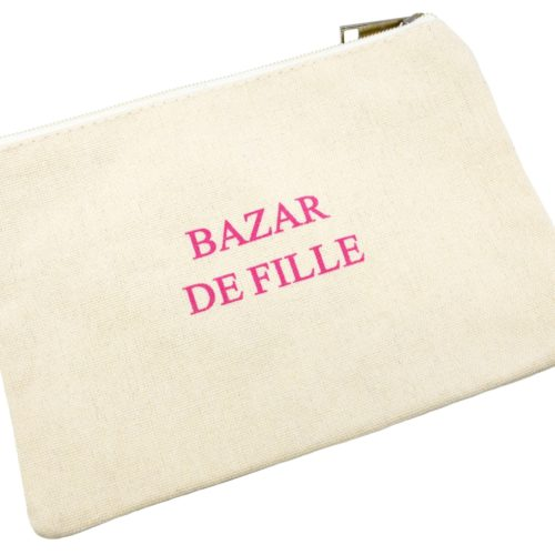 Trousse-Maquillage-Pochette-Tissu-Creme-Message-Bazar-De-Fille-Rose