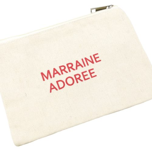 Trousse-Maquillage-Pochette-Tissu-Creme-Message-Marraine-Adoree-Rouge