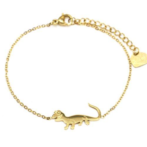 Bracelet-Fine-Chaine-avec-Charm-Salamandre-Lezard-Acier-Dore