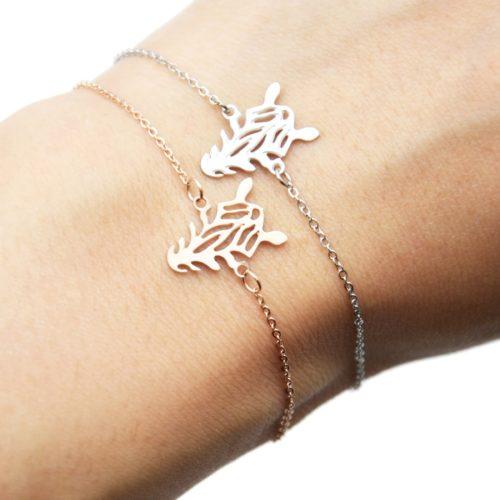 Bracelet-Fine-Chaine-avec-Charm-Zebre-Rayures-Acier