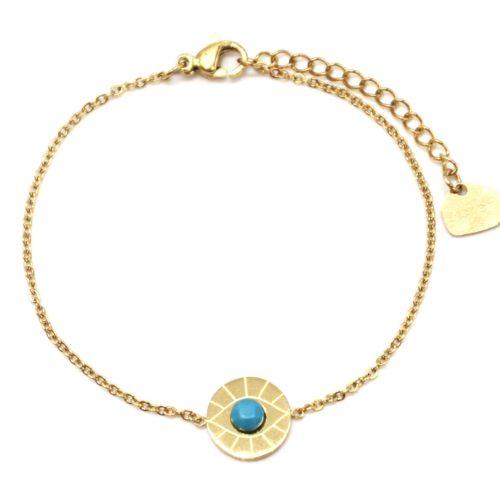 Bracelet-Fine-Chaine-Acier-Dore-avec-Charm-Cercle-Oeil-Pierre-Turquoise