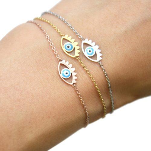 Bracelet-Fine-Chaine-Acier-avec-Charm-Oeil-Bleu