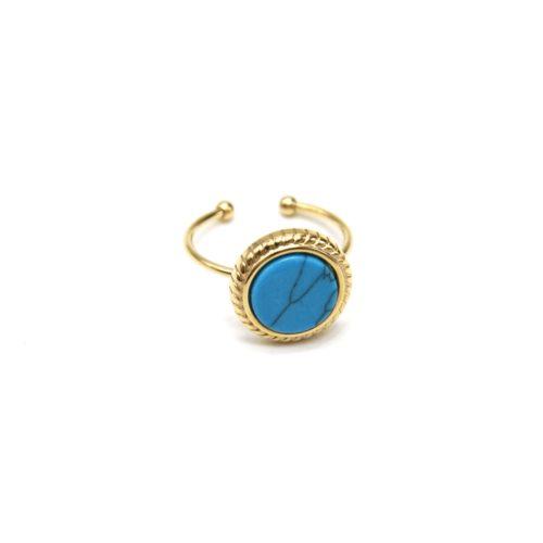 Bague-Fine-Acier-Dore-avec-Pierre-Ronde-Marbre-Turquoise