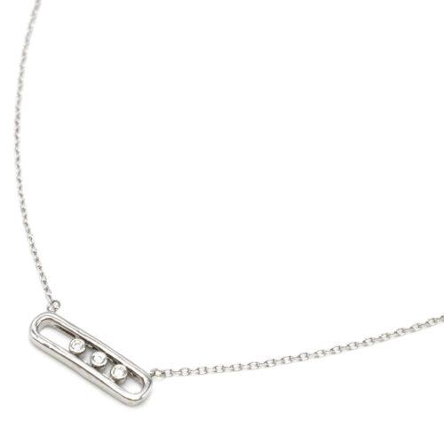 Collier-Fine-Chaine-Argent-925-Pendentif-Rectangle-Arrondi-et-Pierres-Zirconium