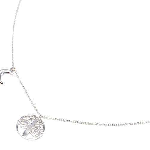 Collier-Fine-Chaine-Argent-925-Pendentif-Cercle-Arbre-de-Vie-et-Lune