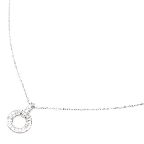 Collier-Fine-Chaine-Argent-925-Pendentif-Barre-Cercle-Strass-Zirconium-et-Pierres
