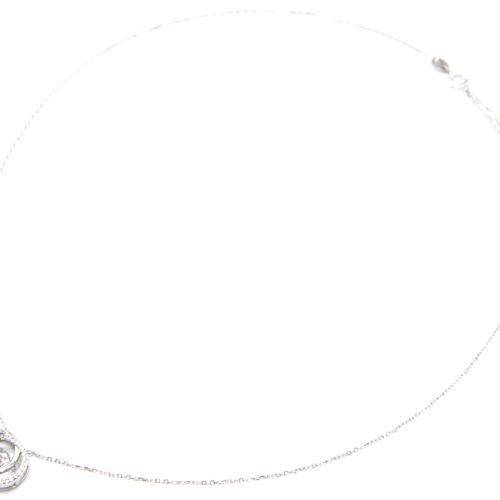 Collier-Fine-Chaine-Argent-925-Pendentif-Double-Cercles-Strass-Zirconium-et-Pierre