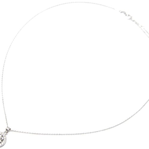 Collier-Fine-Chaine-Argent-925-Pendentif-Cercle-Soleil-Strass-Zirconium-et-Pierre