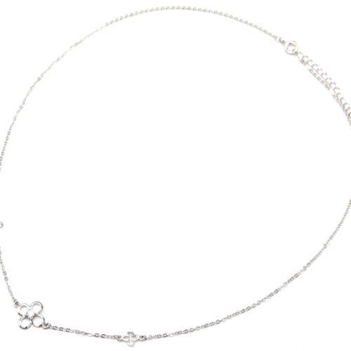 Collier-Fine-Chaine-Argent-925-Pendentif-Trefles-et-Pierre-Zirconium