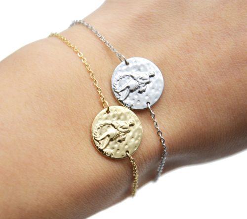 Bracelet-Charm-Medaille-Signe-Astro-Verseau-Acier