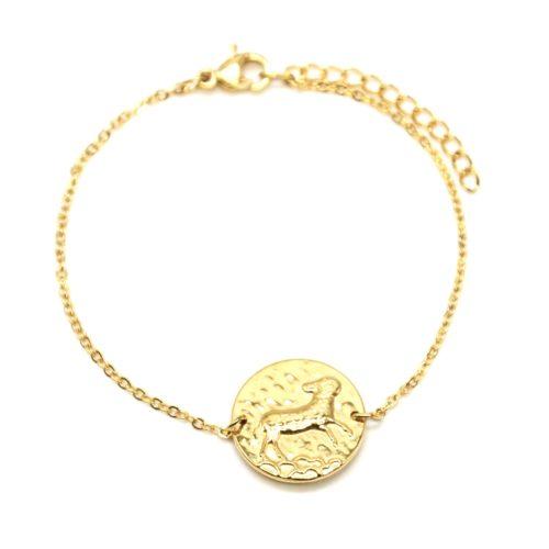 Bracelet-Fine-Chaine-Acier-Dore-avec-Charm-Medaille-Belier-Signe-Zodiaque