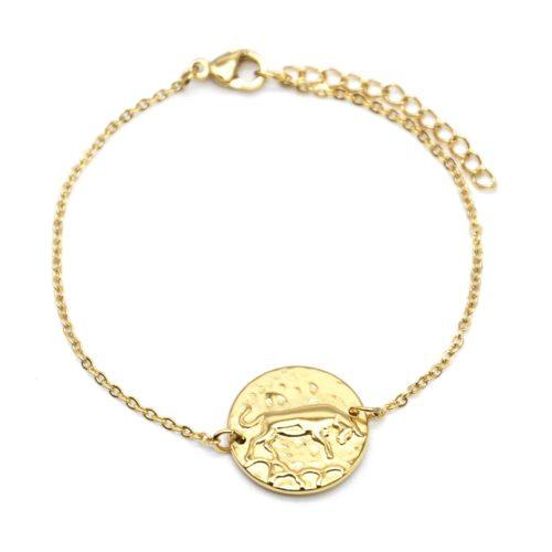 Bracelet-Fine-Chaine-Acier-Dore-avec-Charm-Medaille-Taureau-Signe-Zodiaque