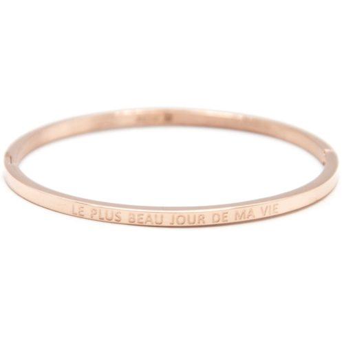 Bracelet-Jonc-Fin-Acier-Or-Rose-avec-Message-Le-Plus-Beau-Jour-De-Ma-Vie