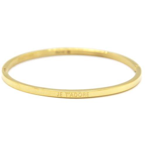 Bracelet-Jonc-Fin-Acier-Dore-avec-Message-Je-T-Adore