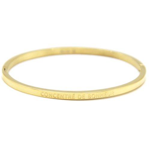 Bracelet-Jonc-Fin-Acier-Dore-avec-Message-Concentre-De-Bonheur