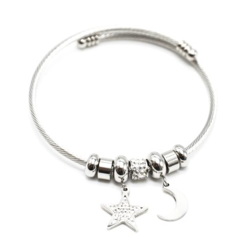 Bracelet-Jonc-Ouvert-avec-Charms-Etoile-Strass-et-Lune-Acier-Argente