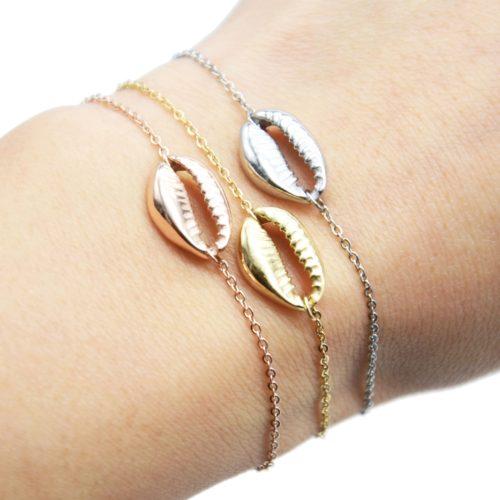 Bracelet-Fine-Chaine-avec-Charm-Coquillage-Cauri-Acier
