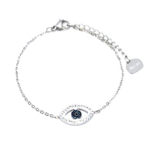 Bracelet-Fine-Chaine-Acier-Argente-avec-Charm-Oeil-Contour-Strass-Blanc