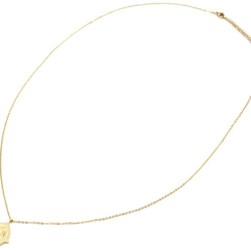 Sautoir-Collier-Fine-Chaine-avec-Medaille-Vierge-Marie-Contour-Points-Acier-Dore