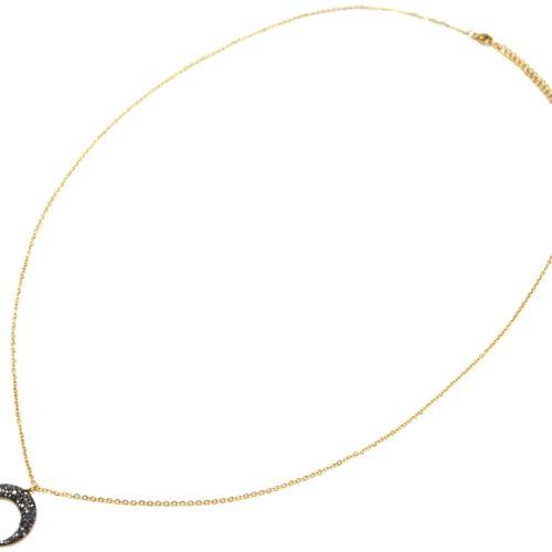 Sautoir-Collier-Fine-Chaine-Acier-Dore-avec-Pendentif-Corne-Lune-Strass-Gris