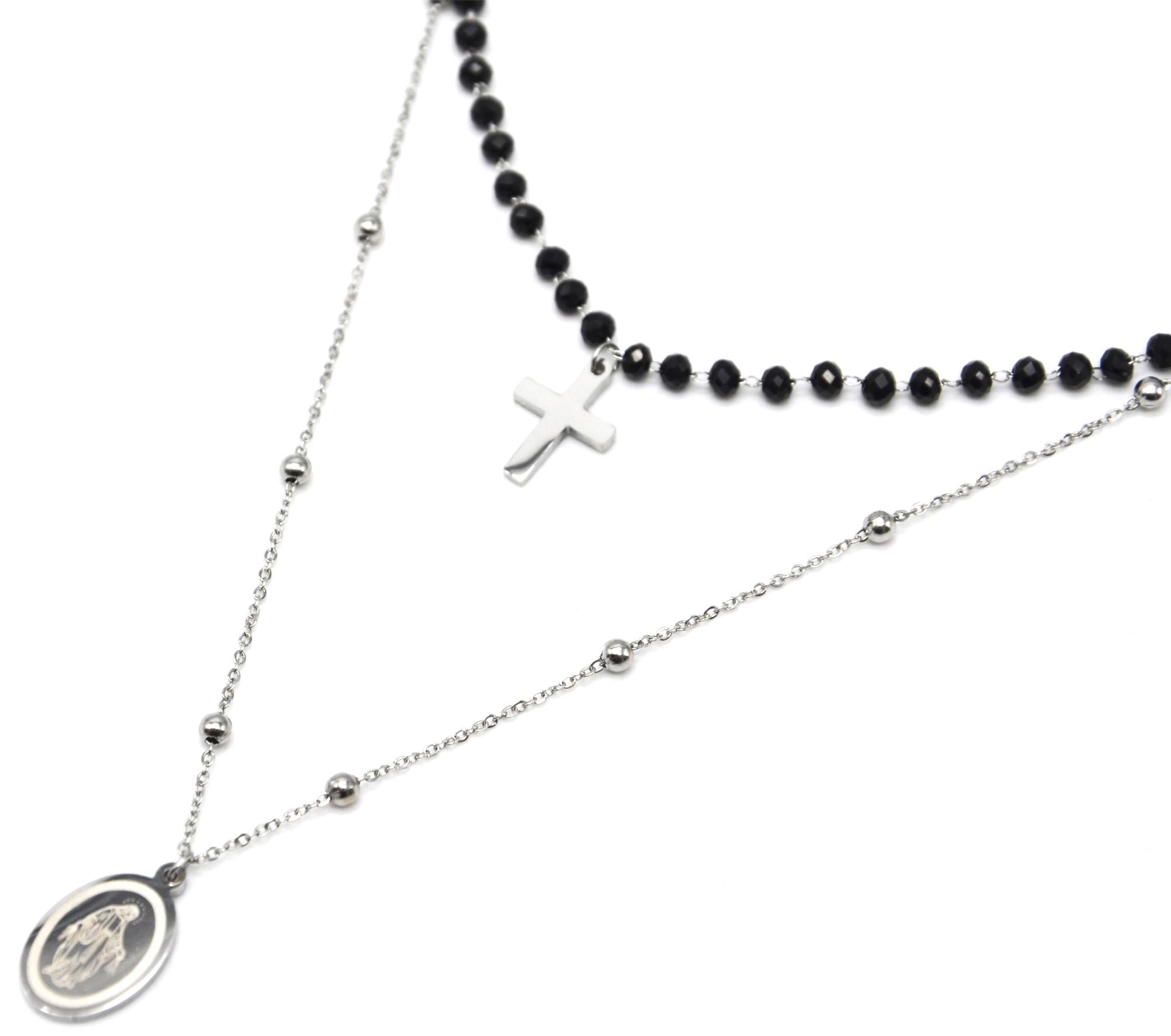collier de perle avec croix