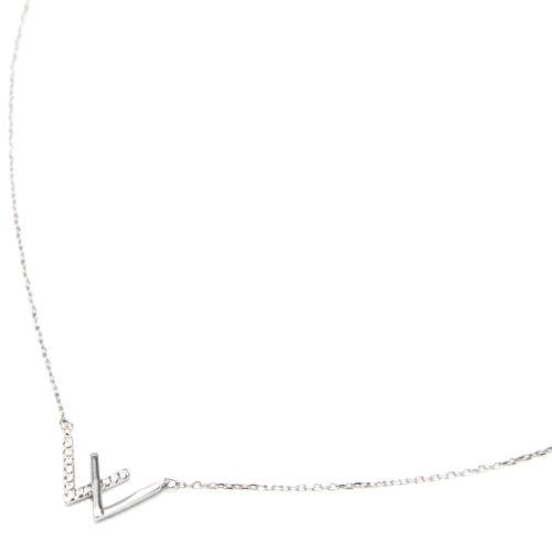 Collier-Fine-Chaine-Argent-925-Pendentif-Chevrons-Strass-Zirconium