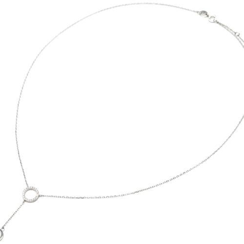 Collier-Fine-Chaine-Argent-925-Pendentif-Y-Double-Cercles-Strass-Zirconium